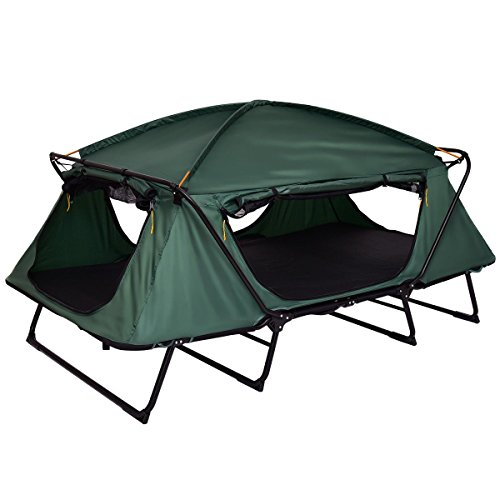 Tangkula Tent Cot Folding Waterproof 2 Person Hiking Elevated Camping Tent with Carry Bag by Tangkula (Image #4)