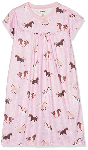 - Hatley Girls' Big Polyester Nightgown, Frolicking Horses 7 Years