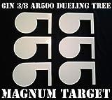 6in. 3/8in. Thk. AR500 Steel Targets for DIY Dueling Trees - Six Metal Paddles