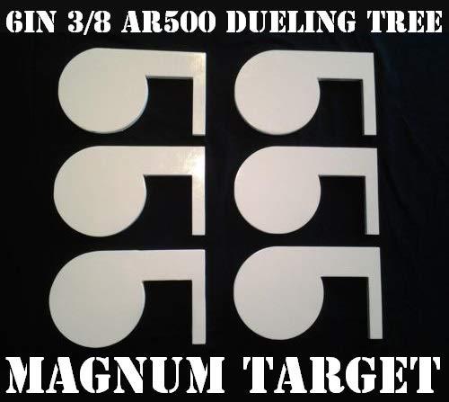 (6in. 3/8in. Thk. AR500 Steel Targets for DIY Dueling Trees - Six Metal Paddles)