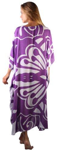 Back From Bali - Vestido - para mujer Purple Butterfly Swirls