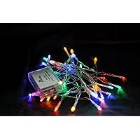 Batería de Karlling Operado Multicolor 40 LED Fairy Light String Wedding Party Navidad Decoraciones navideñas (Multicolor)