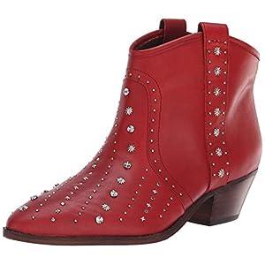 Sam Edelman Women's Brian Western Boot, deep red Leather, 8.5 M US