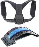 Back Stretcher & Posture Corrector, Back Relief Kit, Lower and Upper