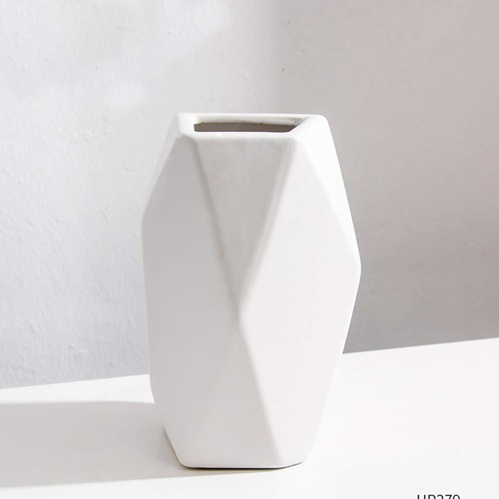 花瓶 北欧の陶製の花瓶、リビングルーム、シンプルな装飾品 SHWSM (サイズ さいず : High20.7CM) B07RW216L5  High20.7CM