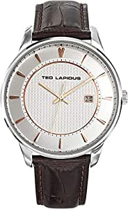 Ted Lapidus Mens Black Dial Leather Band Watch [5127802]