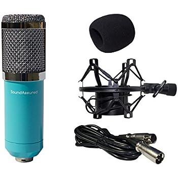 condenser microphone large diaphragm studio mic set recording microphone kit with. Black Bedroom Furniture Sets. Home Design Ideas