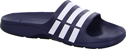 adidas Duramo Slide - Zuecos Unisex adulto Bleu (True Blue/White/True Blue)