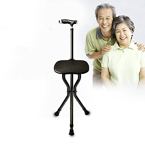 Crutch Walking Sticks With Seat Adjustable Folding With