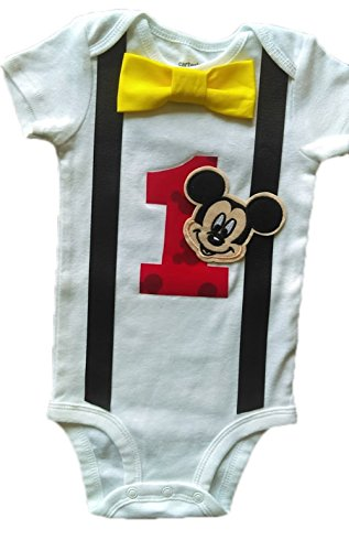 Baby Boys 1st Birthday Outfit Mickey Mouse