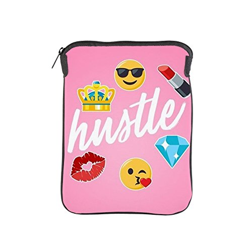 CafePress Hustle Pink Emojis iPad Sleeve -