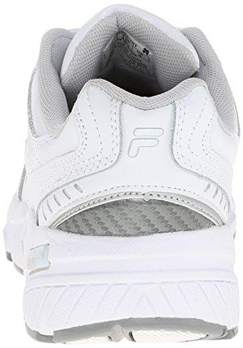 resistente Comfort Silver White trabajo resbalón zapato Fila Trainer de White Metallic Memoria q54w0ff