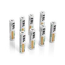 EBL 充電式ニッケル水素電池 単4形16個パック (高容量1100mAh 約...