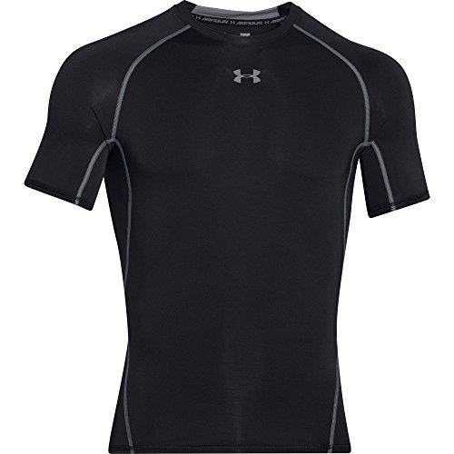 eatGear Armour Short Sleeve Compression Shirt, Black/Steel, Medium ()