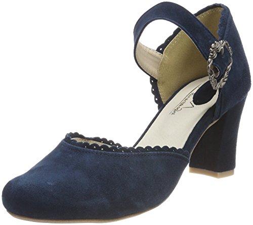 Scarpe Blu Chiusa Donna Punta Tacco Hirschkogel col 3005715 Dunkelblau 017 5Sqw416