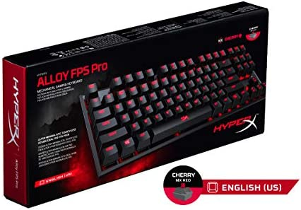 HyperX HX-KB4RD1-US Alloy FPS Pro - Teclado mecánico de Gaming, Cherry MX Red (US layout)