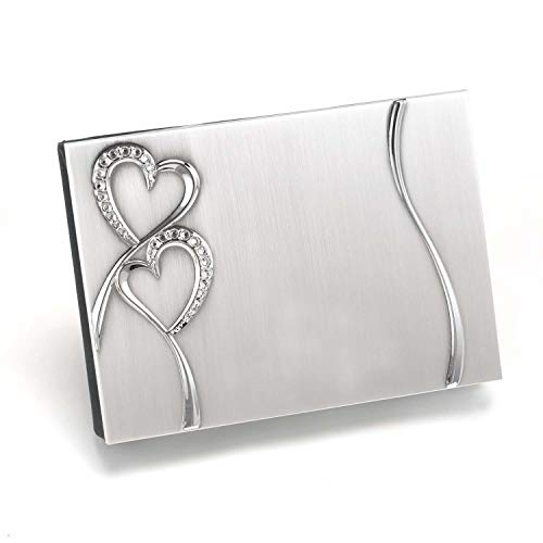 Hortense B. Hewitt Wedding Accessories Silver-Plated Guest Book, Sparkling Love ()