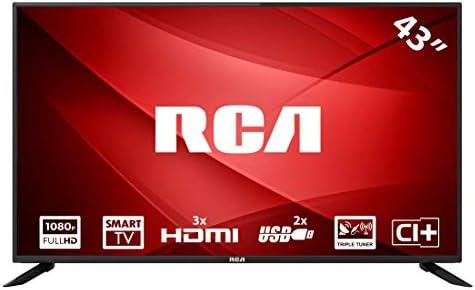RCA RS43F1: Televisor LED Smart TV de 109 cm (43 Pulgadas) (Full HD, Triple Tuner, HDMI, Ci+, Reproductor de Medios a través de USB 2.0) [Clase energética A]: Amazon.es: Electrónica