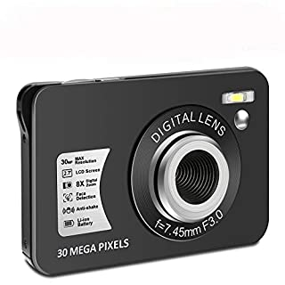 Digital Camera HD 1080P Vlogging Camera 30 MP Mini Camera 2.7 Inch LCD Screen Camera with 8X Digital Zoom Compact Cameras for Adult, Kids, Beginners (1)
