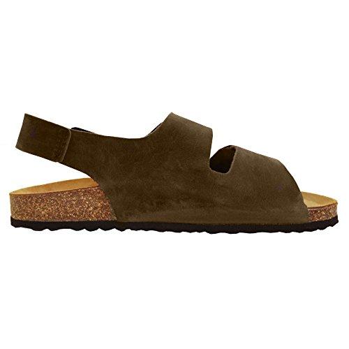 Sandalias cómodas - chanclas- sandalias - piel de ante - mujer
