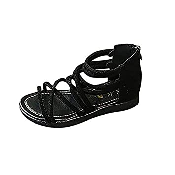 ffc9f0f2ff2a Morrivoe Toddler Boys Girls Back Zip Ankle Braided Strap Gladiator Open Toe  Flat Sandal Summer Strappy Sandals  Amazon.ca  Sports   Outdoors