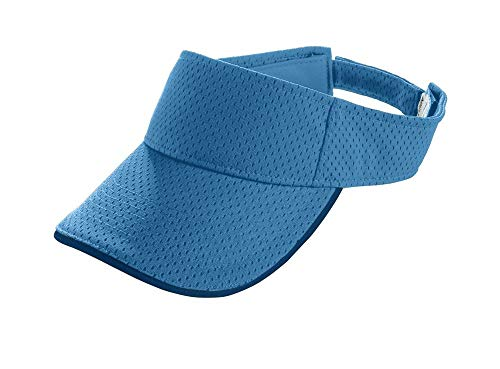 Augusta Sportswear Youth Athletic Mesh Two-Color Visor OS Columbia Blue/Navy