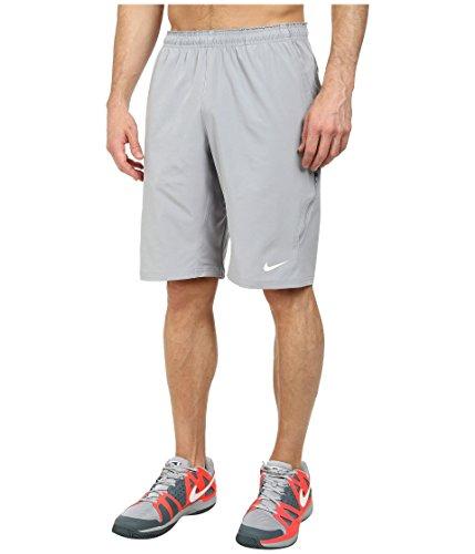 - Nike Men's Dri-FIT Woven Tennis Short (Large, Stadium Grey/White)