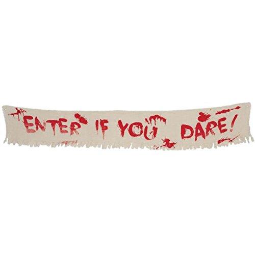 Creepy Carnival Halloween Banner TradeMart Inc Dropship 220091 -