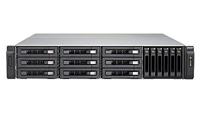"QNAP | TVS-EC1580MU-SAS-RP-8GE-R2-US | QNAP 15-bay 10GbE NAS and iSCS/I IP-SAN (3.5"" x 9, 2.5"" x 6). 2U,, SAS/SATA 6G, 4 x 1GbE, 2 x 10GbE (SFP+), 40GbE-ready, Redundant PSU"