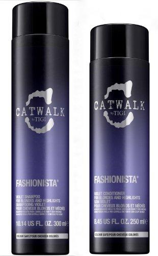 Tigi Catwalk Fashionista Violet Set (Shampoo 300ml + Conditioner 250ml)