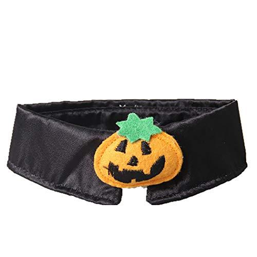 (Legendog Halloween Cat Collar Pumpkin Design Cat Necktie Cat Neck Decoration Party Pet)