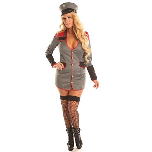 Disiao Sexy Stawardess Flight Attendant Uniform Costume Women (Unusual Female Halloween Costumes)