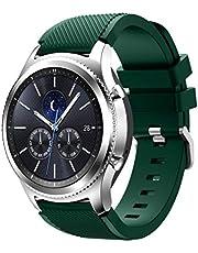 Cobar Twill horlogeband vervanging voor Fenix Chronos, 22 mm zachte siliconen Quick Release Sport horlogeband compatibel met Garmin Fenix Chronos/Samsung Galaxy horloge 46 mm