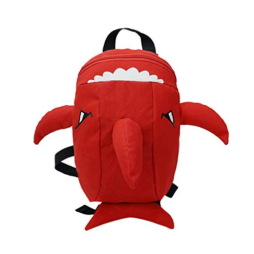 (Children Baby Girls&Boys Kids Cartoon Animal Backpack Toddler School Bag Red)