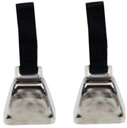 (2 Pack) Coastal Pet - Large Nickel Cow Bell With Nylon Strap