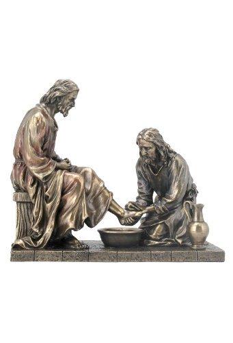 Jesus Washing His Disciple s Feet Statue Sculpture Bronze