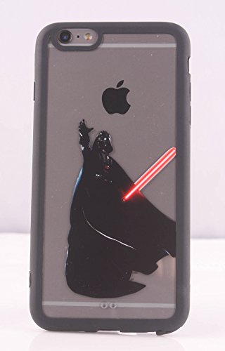 Darth Vader 6+ 6s+ Plus ROXX Black Bumper iPhone Clear Case with Rubber Grip Sides