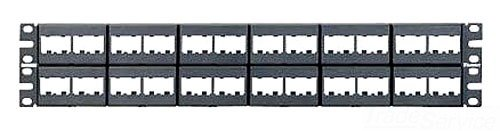 Panduit CPP48WBLY 48-Port Flat Patch Panel, Black