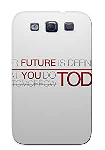 Kathewade High Quality Future Today Case For Galaxy S3 / Perfect Case For Lovers