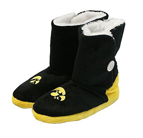 Hawkeye Boot (Iowa Hawkeyes Slippers - Womens Boot - NCAA Licensed)