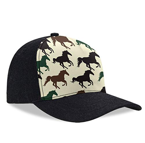 Classic Polo Style Baseball Cap All Cotton Made Adjustable Fits Men Women Low Profile Horse Racing Hat Unconstructed Dad Hat (Polo Horse Cookie Cutter)
