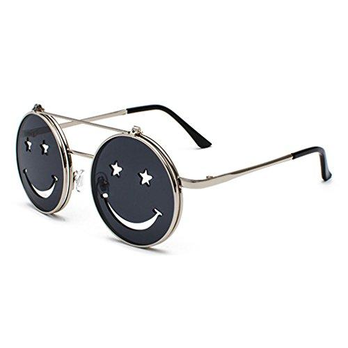2dbd4d237b Barato Unisex Nueva Moda Popular Personalidad Divertida Sonrisa Gafas De Sol  Decorativas Marea Hombres Y Mujeres