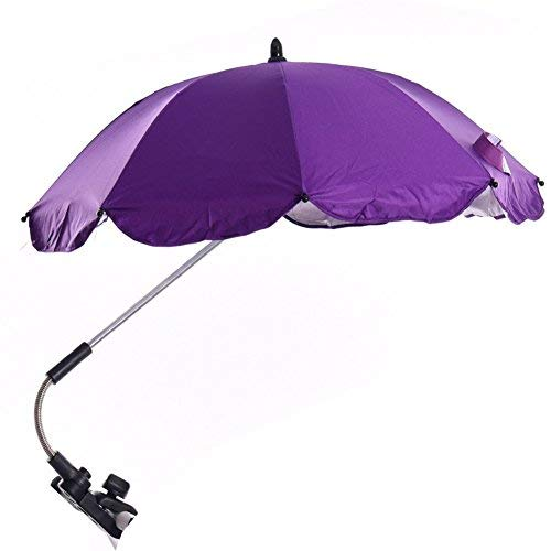 Katech Detachable Stroller UV Protection Umbrella Adjustable Baby Pram Pushchair Sun Shade Parasol with Universal Clamp