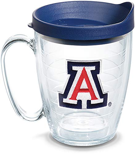 Tervis 1082390 Arizona Wildcats Tumbler with Emblem and Navy Lid 16oz Mug, Clear