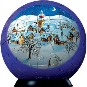 Puzzle Ball Snowed Village