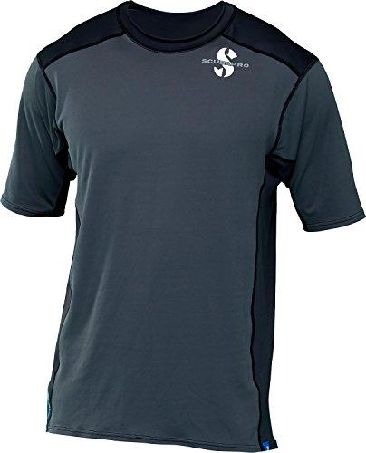 Pro Short Sleeve Rash Guard - ScubaPro Men's UPF 50 Channel Flow Short Sleeve Rash Guard (Large, Graphite)