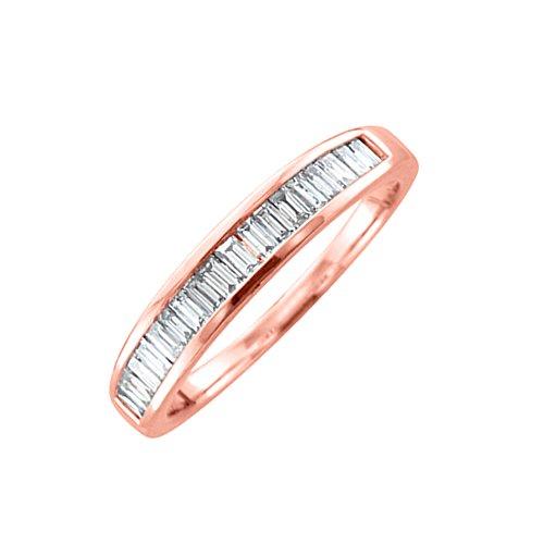 IGI Certified 14K Gold Baguette cut Diamond Wedding Anniversary Ring Band (1/2 Carat)