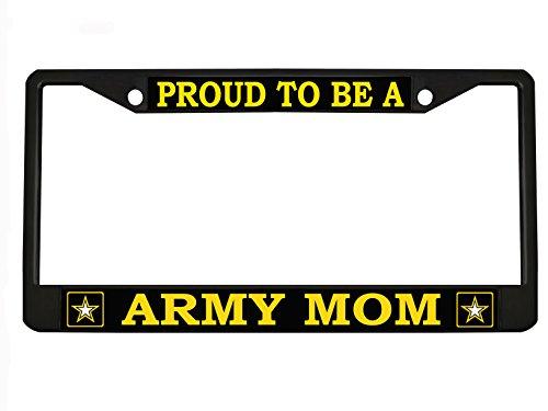 OM Quality Metal License frame Black (Army Mom License Plate Frame)