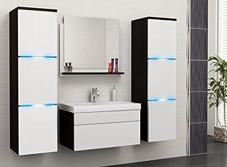 Mobile Bagno Compatto : Nathalie set mobili da bagno moderno lavello pannello specchio