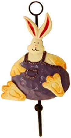 1ピースクリエイティブウサギのユーティリティウォールフック家庭用コートフックウォールカバーフック、I